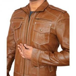 Handmade Brown Double Pocket Leathe..