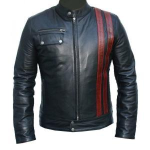 MEN BLACK LEATHER JACKET, MENS BIKE..