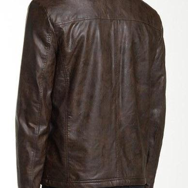 Mens biker leather jacket, Mens fas..