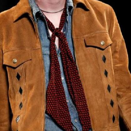 Men Tan brown fashion suede jacket,..