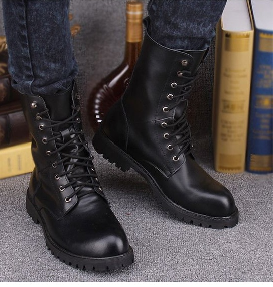 New Handmade Men Military Style Boots, Men Combat Boots, Men Military Boots
