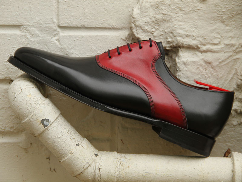 HANDMADE SHOES- MEN DRESS SHOES- MEN BLACK AND RED DRESS SHOES on ...