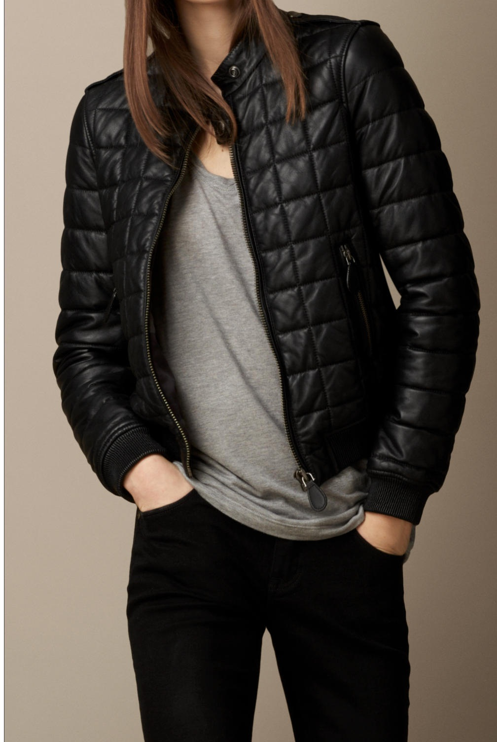 Womens leather jacket quilted – Modern fashion jacket photo blog