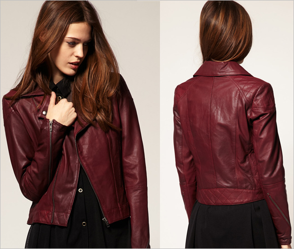 Red Leather Jackets Women