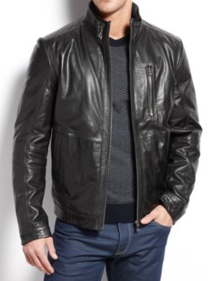 HANDMADE BLACK LEATHER JACKET, MEN'S FASHION LEATHER JACKETS ...