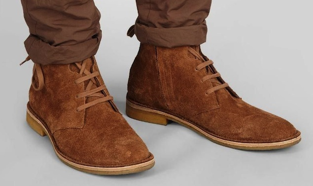 Handmade Mens Suede Leather Boots With Crepe Sole Mens Suede