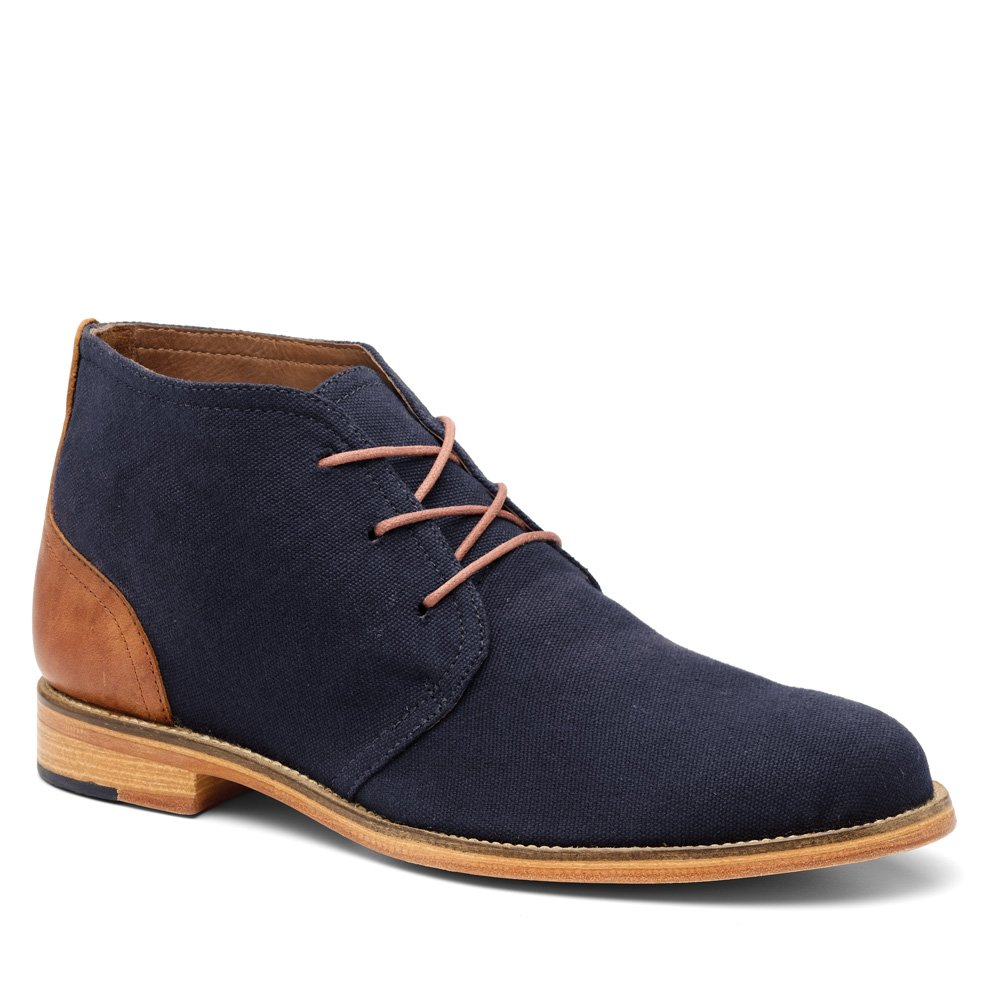 Handmade Men Navy Blue Suede Chukka Boots, Mens Fashion Genuine ...