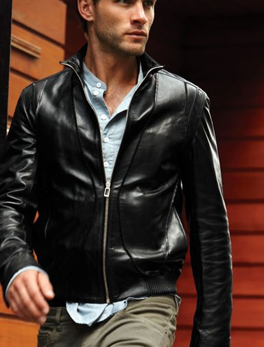 Mens black leather jacket, Men biker leather jacket, Mens fashion leather jacket