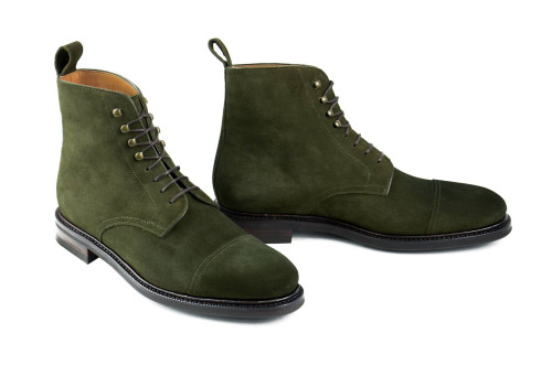 Handmade Mens Hunter Green Ankle Boots, Men Suede Boot, Men Ankle ...