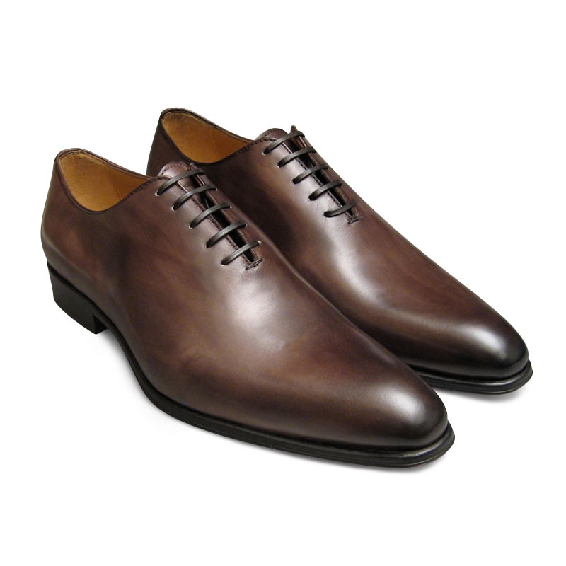 handmade brown color derby shoes leather shoes