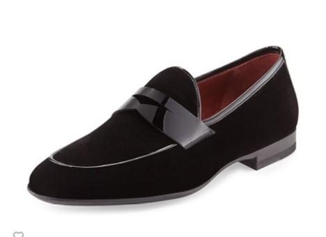 fashion black velvet shoes mens black velvet