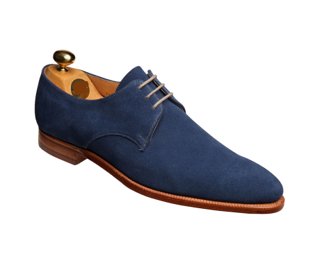Handmade Men Navy Blue Suede Formal Shoes Men Suede Dress Shoes ...