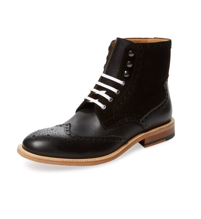 Handmade Mens Genuine Leather Black Ankle Boot, Men Black Leather ...