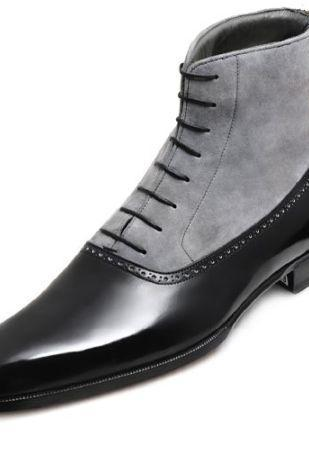Men's Two-Toned Leather Boots