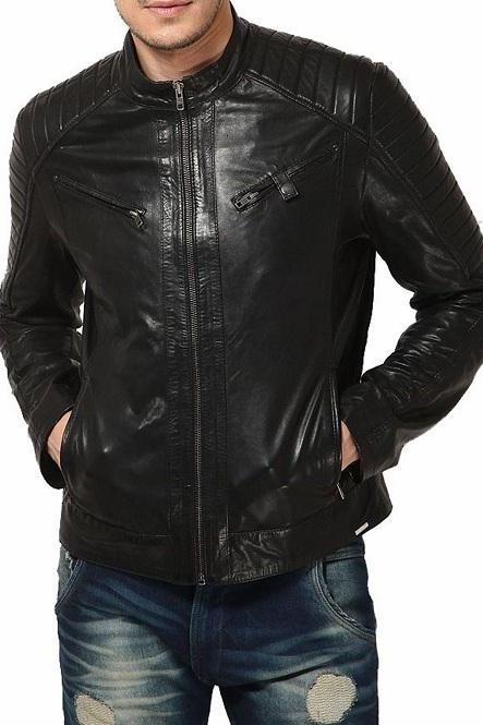 Man black biker jacket, Mens leather jacket, black Leather jackets for men
