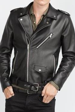 Handmade mens Black leather jacket, mens motorbike jackets, Motorcycle jacket mens