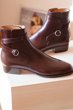 Handmade men fashion maroon jodhpur boot, Men ankle high genuine leather boots