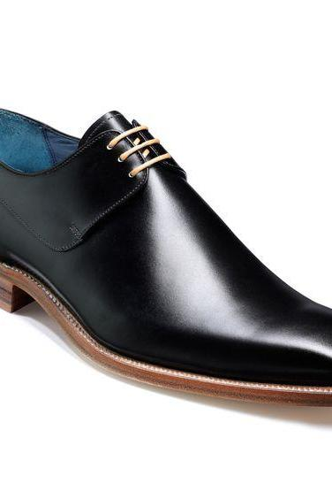Handmade mens shoes, Mens black derby shoes, Men laceup shoes, Men leather shoes
