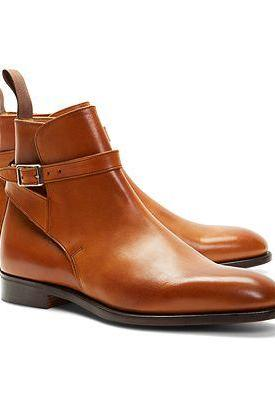 Handmade men tan jodhpurs boot, Men real leather boot