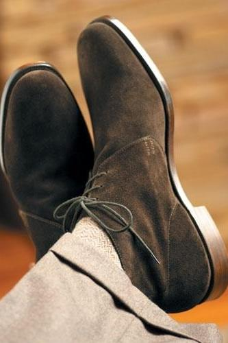 Handmade Men's dark brown Chukka boot, Men brown suede leather boots, Mens suede Boot