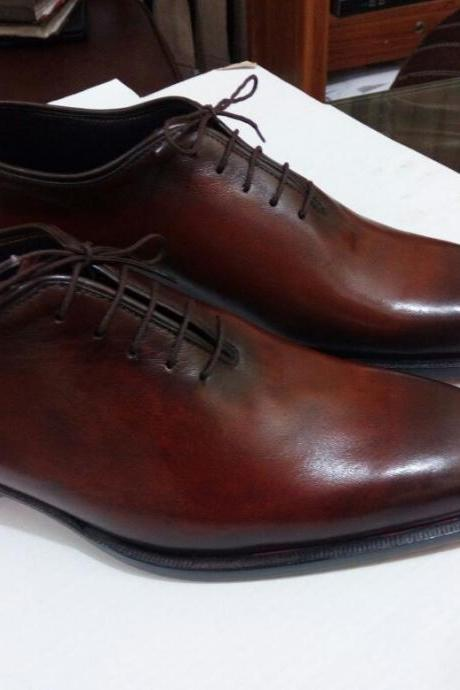 Handmade Men brown formal shoes, Men dress shoes, Men leather shoes, Mens shoes