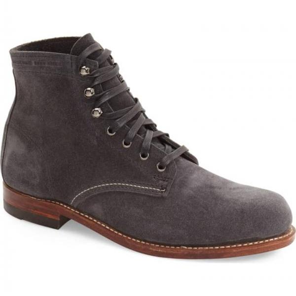 Handmade Men Gray Suede Ankle Boots, Men Casual Boots, Men Lace Up Boots