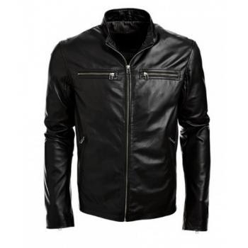 Handmade Black real Leather Jacket