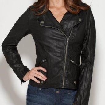 WOMENS BIKER JACKET, BLACK COLOR WOMEN JACKET, WOMEN FASHION JACKETS