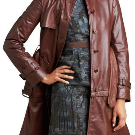 WOMEN LONG COAT, WOMEN LEATHER TRENCH COAT, LONG LEATHER JACKET ...
