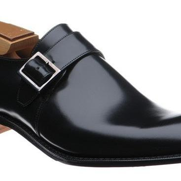 HANDMADE MEN FASHION MONK STRAP LEATHER SHOES, MEN BLACK BUCKLE SHOES, MEN DRESS SHOES