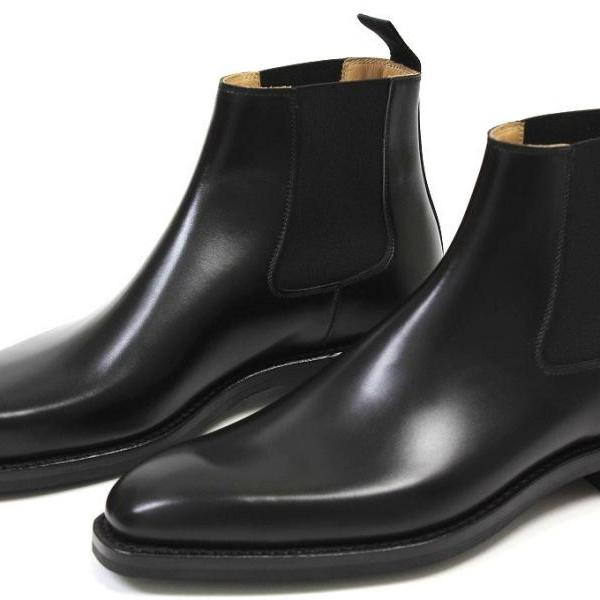 Handmade Men Black Ankle Boot Men Ankle Boots Men Chelsea Black
