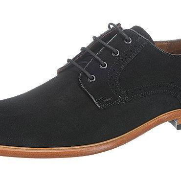 Handmade Mens black suede formal shoes, Mens black derby shoes, Mens shoes