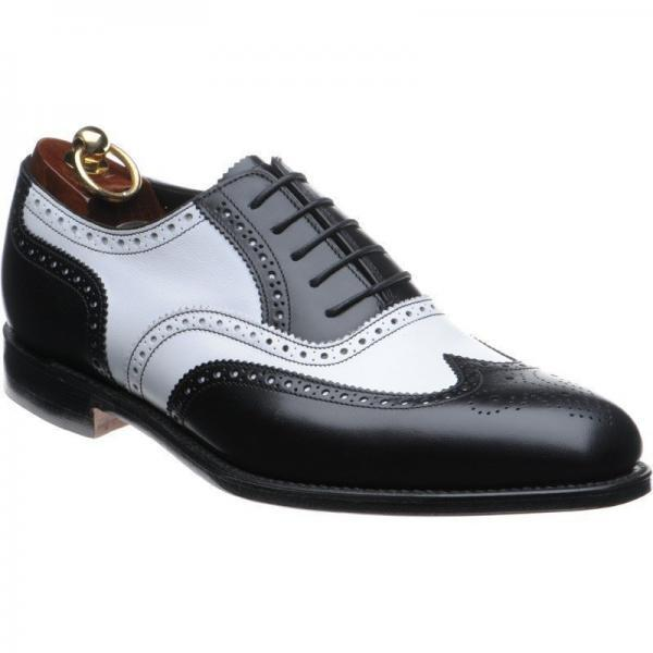 Mens formal shoes, Men Black wing tip Two tone spectator shoes, Mens dress shoes