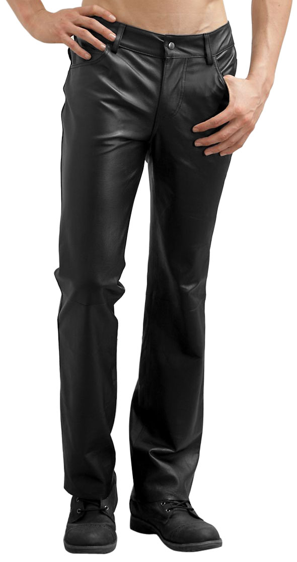 "Nothing says ""hard-core biker"" than a pair of men's leather motorcycle pants. Stylish and functional, our pants are made from premium leather that offers a great look while providing superior protection."