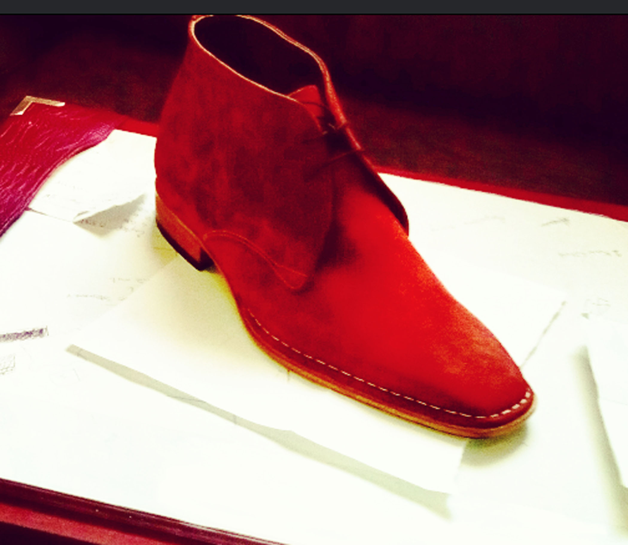 Handmade Mens Ankle Suede Leather Boots In Cherry Red , Men Cherry ...