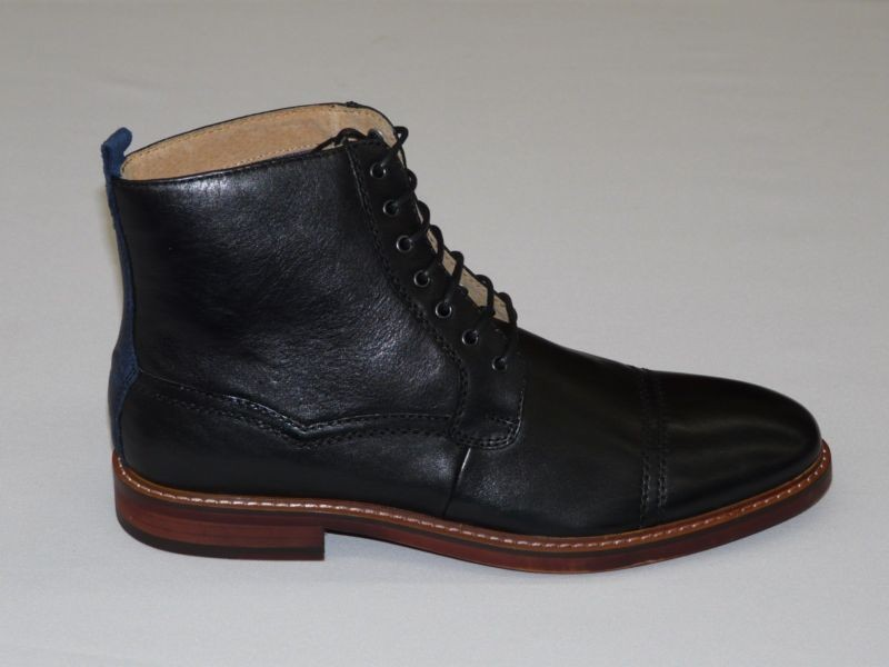 handmade mens ankle high leather boots mens black real
